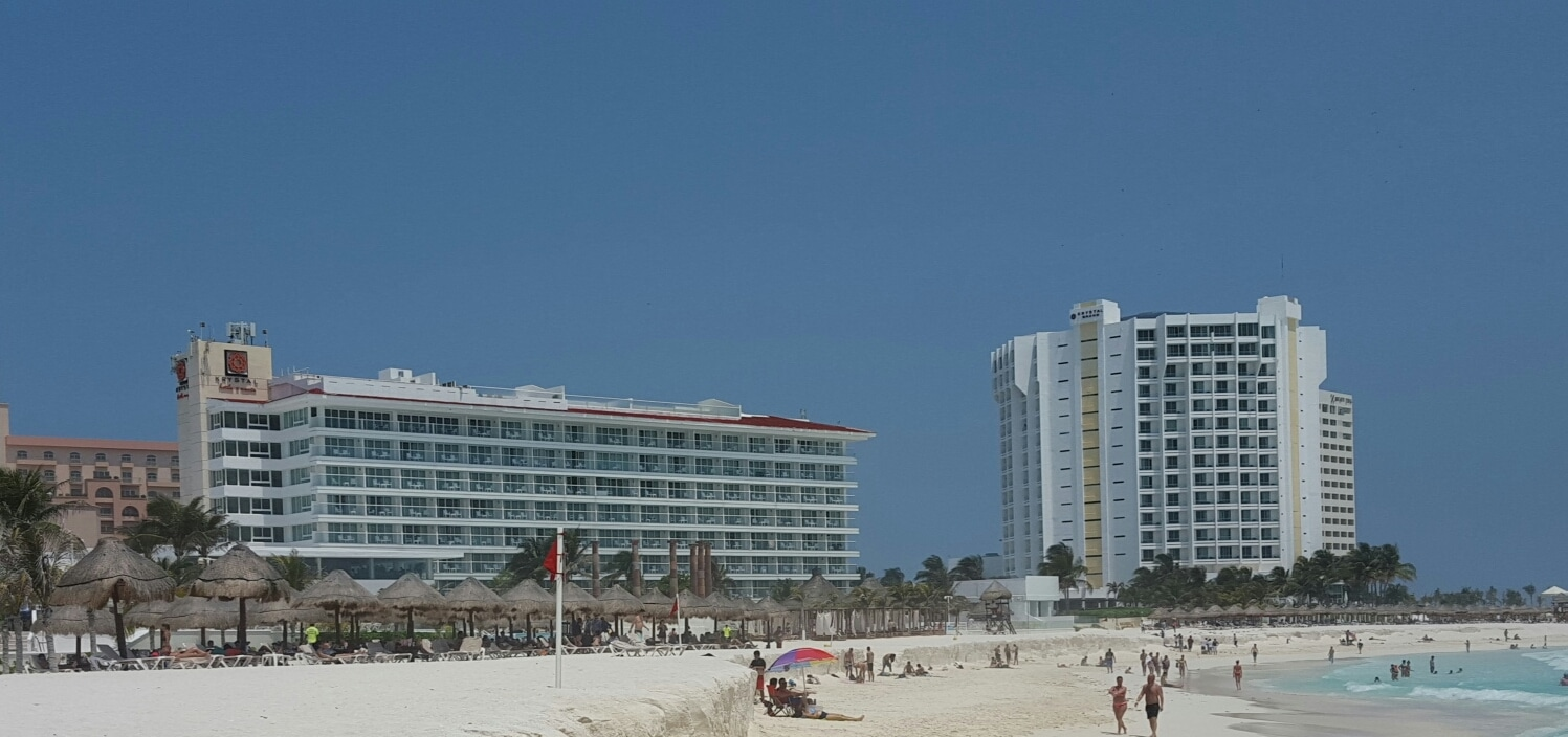 The Cancun tourist zone is filled with resorts